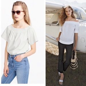 J Crew Cotton Off the Shoulder top